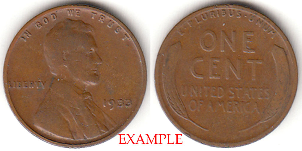 1933 1c US Lincoln cent