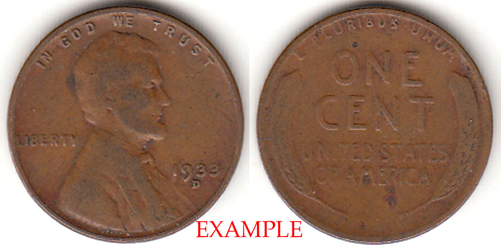 1933-D 1c US Lincoln cent