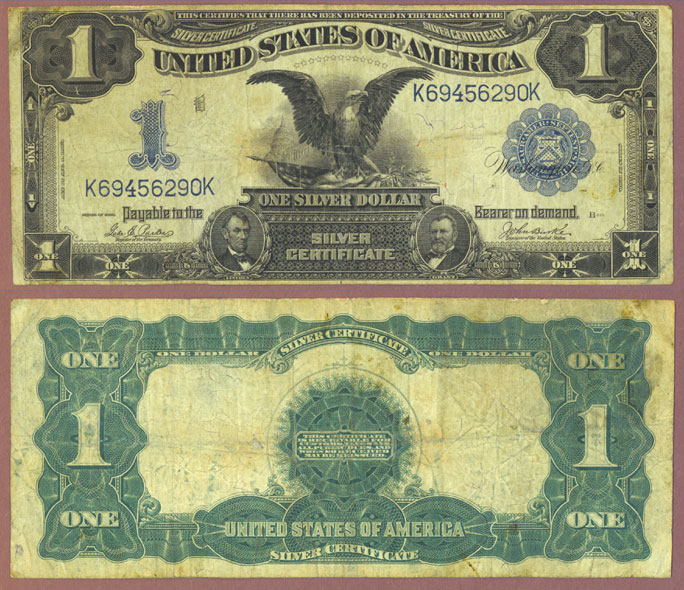 1899 $1.00 FR-232 US large size silver certificate blue seal