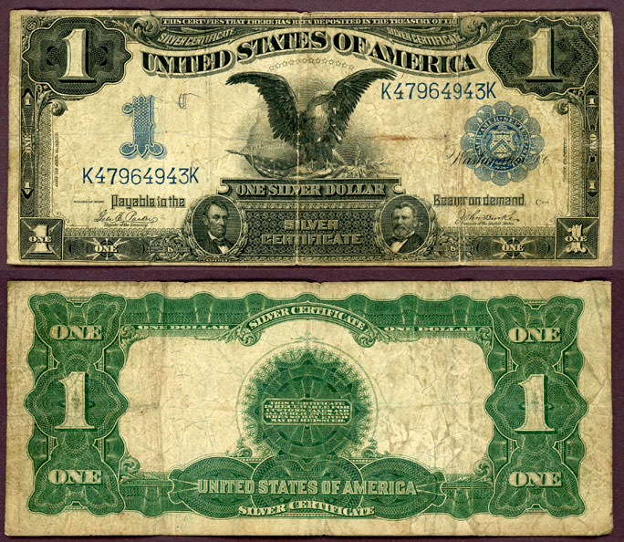 1899 $1.00 FR-232 US large size silver certificate