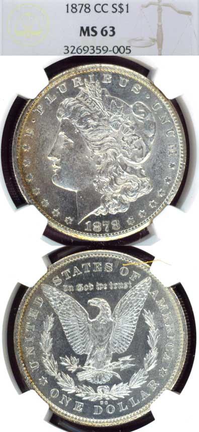 1878-CC $ MS-63 Carson City Mint Morgan Silver Dollar