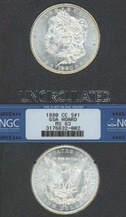 1880-CC $ MS-63 GSA VAM 3-A Carson City Mint Morgan Silver Dollar