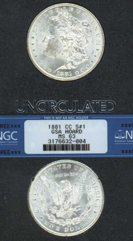 1881-CC $ MS-63 GSA VAM 2 Carson City Mint Morgan Silver Dollar