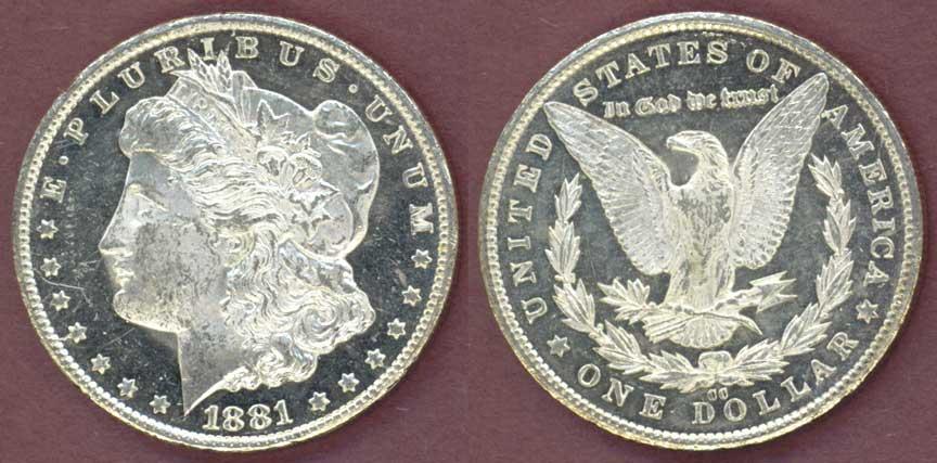 1881-CC $ Carson City Mint Morgan Silver Dollar