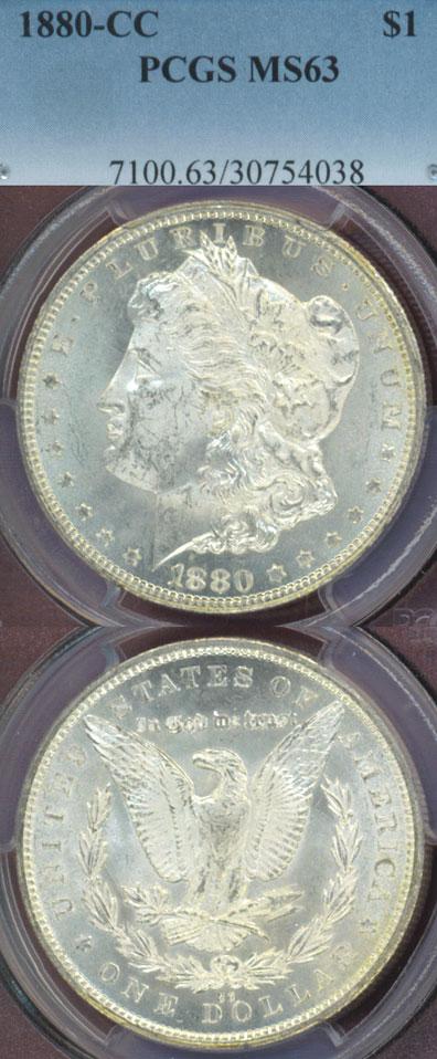 1880-CC $ MS-63 Carson City Mint Morgan Silver Dollar