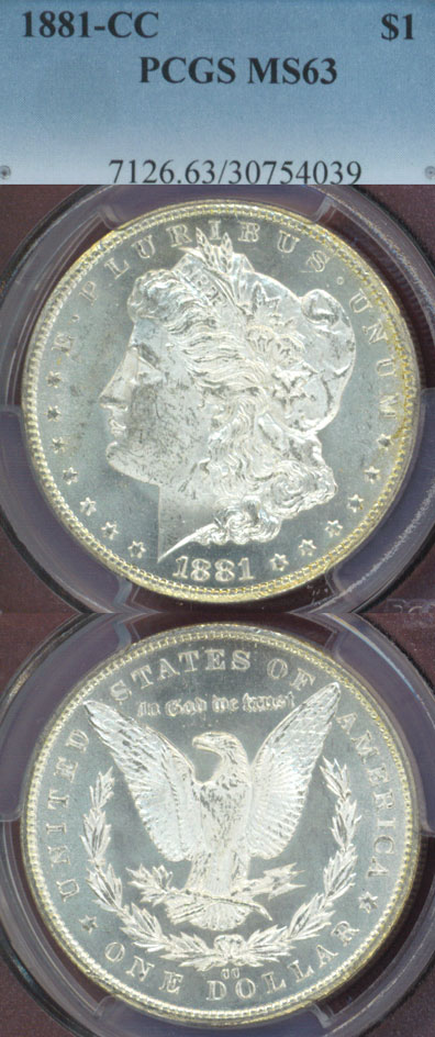 1881-CC $ MS-63 Carson City Mint Morgan Silver Dollar
