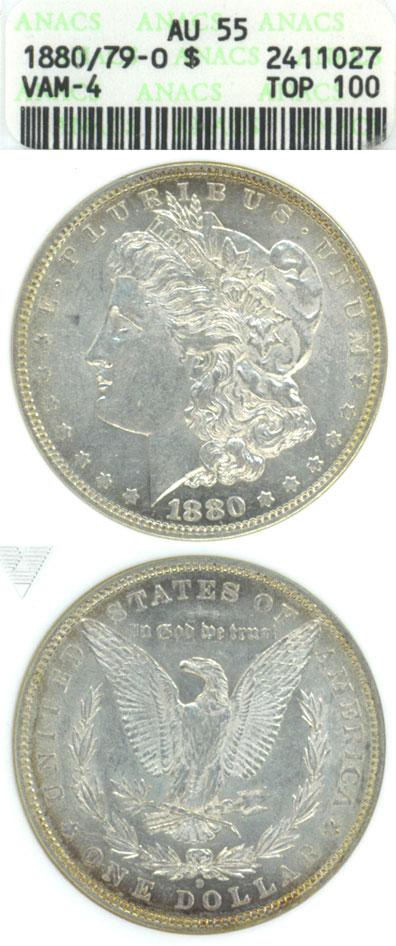 "1880/79-O $ VAM-4 Micro O ""TOP 100 VAM"""