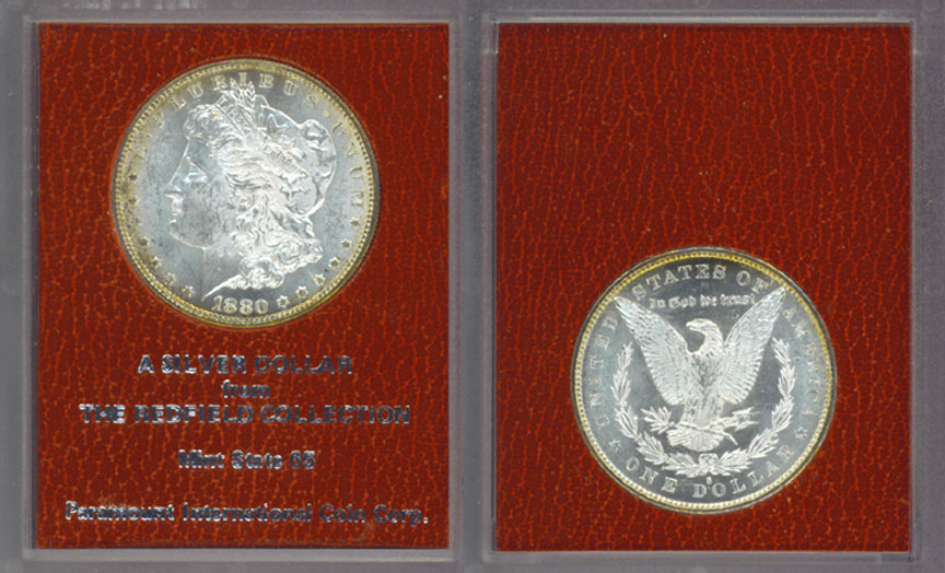 1880-S $ Redfield Hoard US Morgan silver dollar
