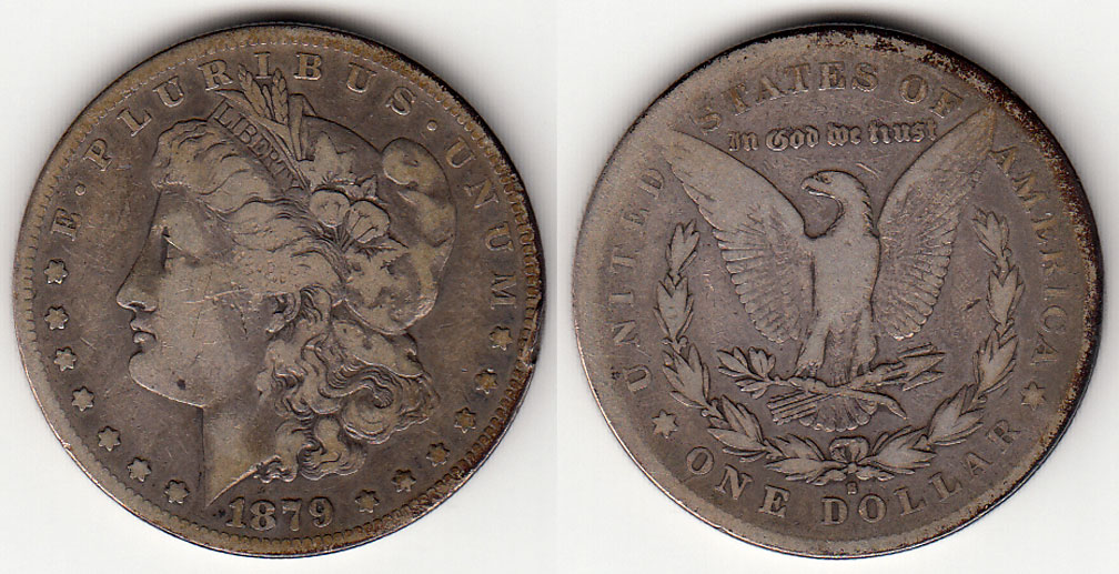 1879-S $ Rev. 78 US Morgan silver dollar