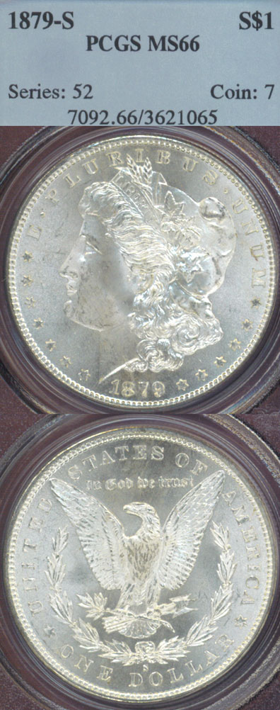 1879-S $ US Morgan silver dollar PCGS MS-66