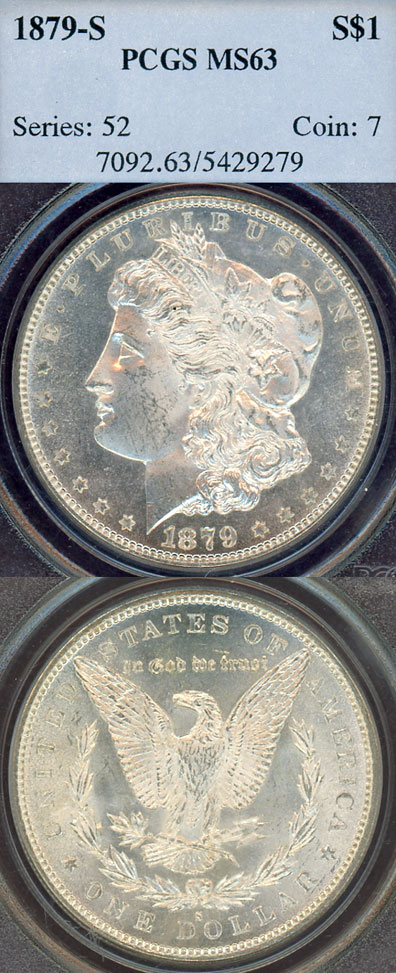 1879-S $ MS-63 US Morgan silver dollar