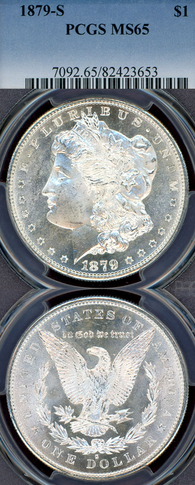 1879-S $  US Morgan silver dollar PCGS MS-65