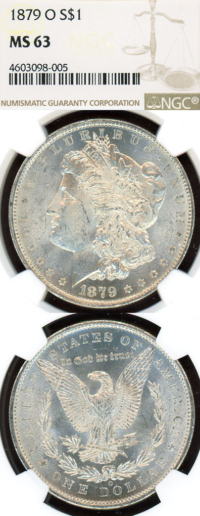 1879-O $ US Morgan silver dollar NGC MS 63