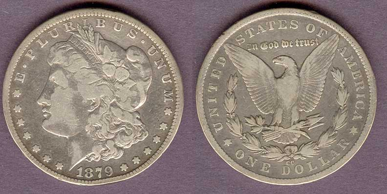 1879-CC $ Carson City Mint Morgan Silver Dollar