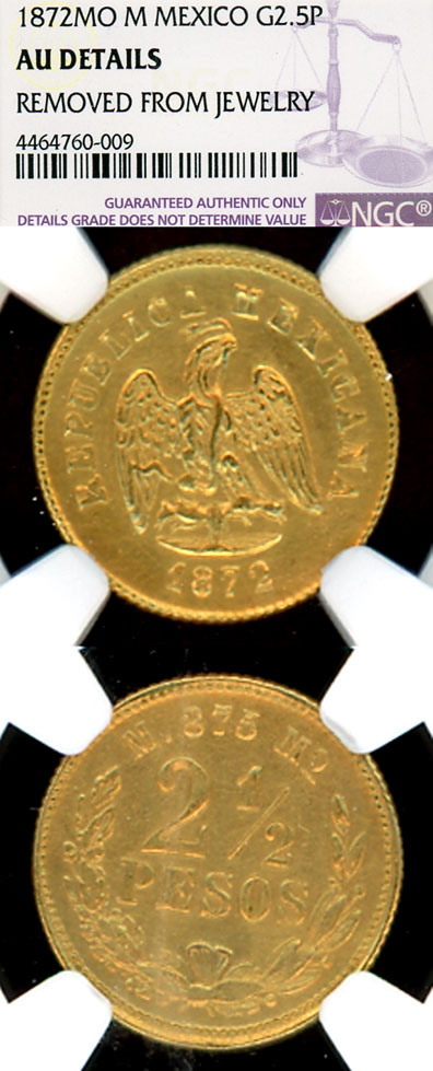 1872 MO M 2 50 Peso Gold | Corpus Christi Coin & Currency