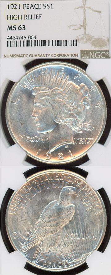 1921 Peace $ US silver Peace dollar