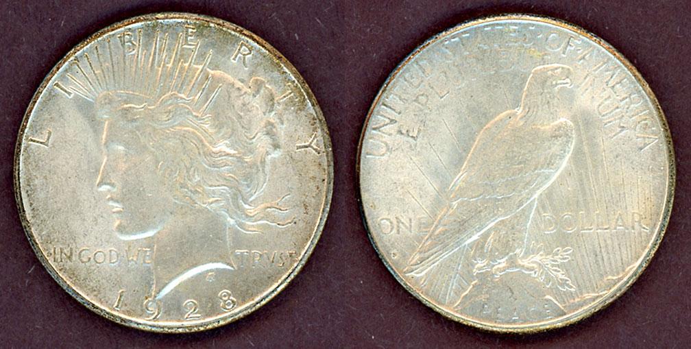 1928-S $ US Peace silver dollar