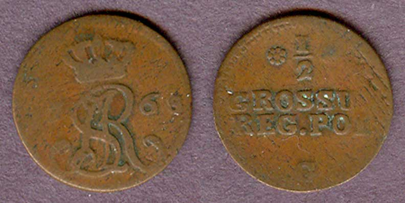 1768 1/2 Grosza collectable coins Poland