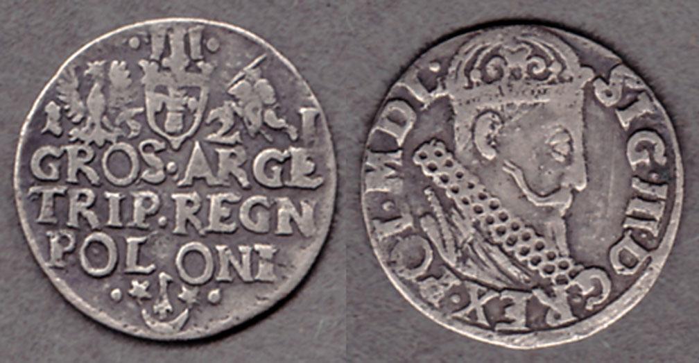 1621 3 Groschen collectable silver coins Poland