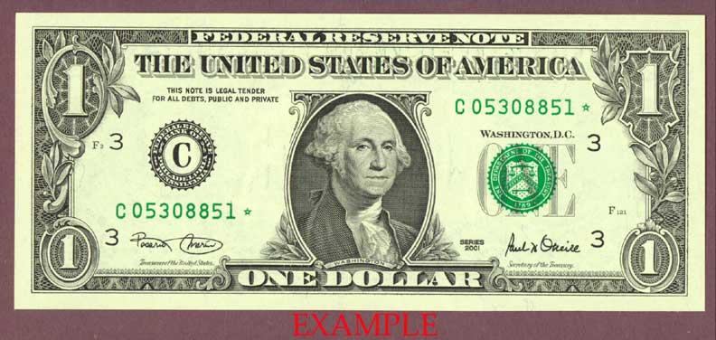 2001 $1 FR-1926*STAR*