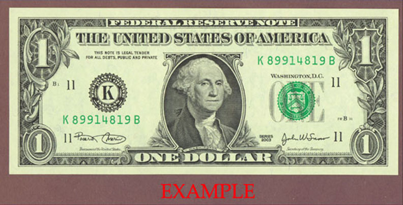 2003 - $1 US Federal Reserve Note