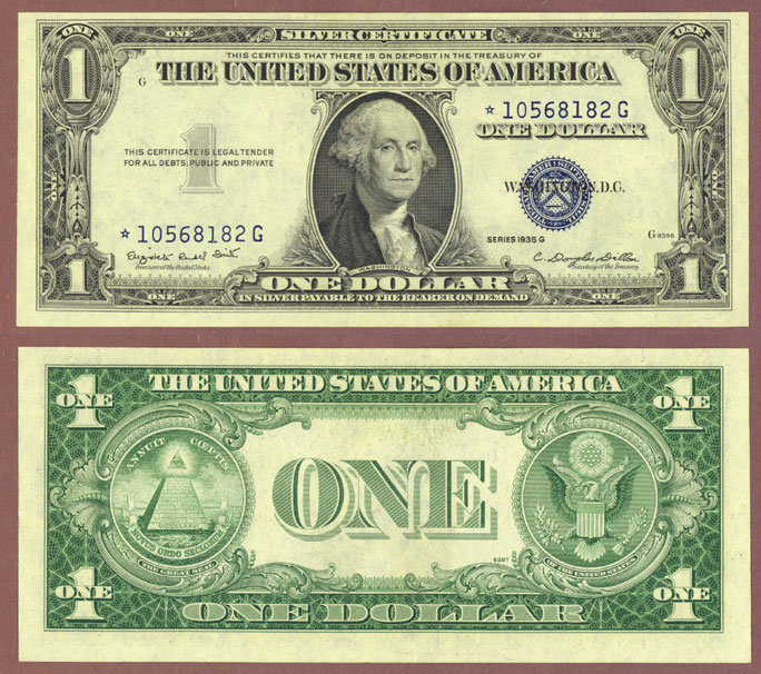 1935-G $1 FR-1616* No Motto \
