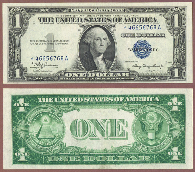 1935-A $1 STAR FR-1608* Silver certificate star note