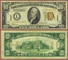 """1934-A $10.00 FR-2303 """"Hawaii"""" US emergency issue"""