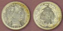 1916 10c US silver dime Barber