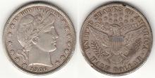 1906 50c US Barber silver half dollar