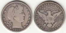1915 50c US Barber silver half dollar