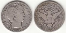 1894 50c US Barber silver half dollar