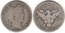 1905-O 50c US Barber silver half dollar