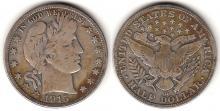 1915-D 50c US Barber silver half dollar