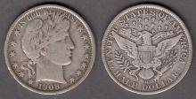 1908-O 50c US Barber silver half dollar