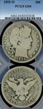 1892-O 50c US Barber silver half dollar
