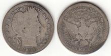 1894-S 25c US Barber silver quarter