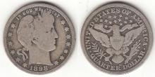 1898-O 25c US Barber silver quarter