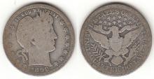 1899-O 25c US Barber silver quarter