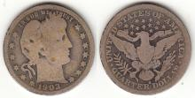 1903-S 25c US Barber silver quarter