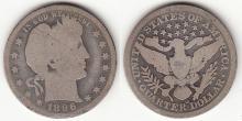 1896-O 25c US Barber silver quarter