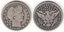 1896-O 25c US Barber silver quarter