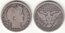 1897-O 25c US Barber silver quarter