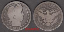 1898 25c US Barber quarter