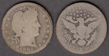 1904-O 25c US Barber silver quarter