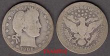 1906-O 25c US Barber silver quarter