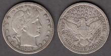 1916-D 25c US Barber silver quarter