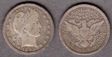 1893 25c USBarber silver quarter