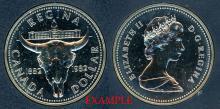 "1982 $1.00 ""Regina"" coleectable canadian coin"