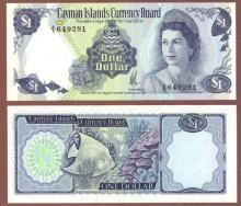 1971 1 Dollar Cayman Island currency